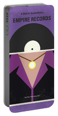 Portable Battery Charger featuring the digital art No750 My Empire Records Minimal Movie Poster by Chungkong Art