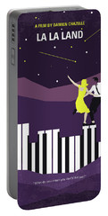 Portable Battery Charger featuring the digital art No756 My La La Land Minimal Movie Poster by Chungkong Art
