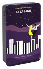No756 My La La Land Minimal Movie Poster Portable Battery Charger by Chungkong Art
