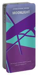 Portable Battery Charger featuring the digital art No757 My Moonlight Minimal Movie Poster by Chungkong Art