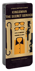Portable Battery Charger featuring the digital art No758 My Kingsman Minimal Movie Poster by Chungkong Art