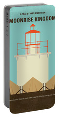 Portable Battery Charger featuring the digital art No760 My Moonrise Kingdom Minimal Movie Poster by Chungkong Art