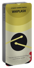 Portable Battery Charger featuring the digital art No761 My Whiplash Minimal Movie Poster by Chungkong Art