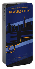 Portable Battery Charger featuring the digital art No762 My New Jack City Minimal Movie Poster by Chungkong Art