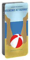 Portable Battery Charger featuring the digital art No765 My Weekend At Bernies Minimal Movie Poster by Chungkong Art