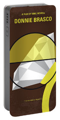 Portable Battery Charger featuring the digital art No766 My Donnie Brasco Minimal Movie Poster by Chungkong Art