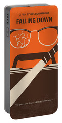 Portable Battery Charger featuring the digital art No768 My Falling Down Minimal Movie Poster by Chungkong Art