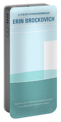 Portable Battery Charger featuring the digital art No769 My Erin Brockovich Minimal Movie Poster by Chungkong Art