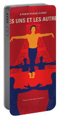 Portable Battery Charger featuring the digital art No771 My Les Uns Et Les Autres Minimal Movie Poster by Chungkong Art