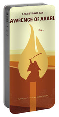 Portable Battery Charger featuring the digital art No772 My Lawrence Of Arabia Minimal Movie Poster by Chungkong Art