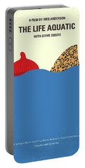 No774 My The Life Aquatic With Steve Zissou Minimal Movie Poster Portable Battery Charger