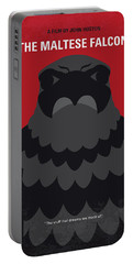 No780 My The Maltese Falcon Minimal Movie Poster Portable Battery Charger