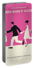 No785 My Paris When It Sizzles Minimal Movie Poster Portable Battery Charger
