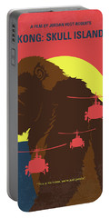 No799 My Skull Island Minimal Movie Poster Portable Battery Charger