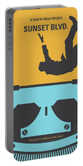 No813 My Sunset Blvd Minimal Movie Poster Portable Battery Charger