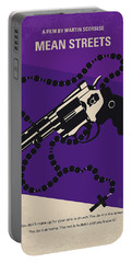 No823 My Mean Streets Minimal Movie Poster Portable Battery Charger