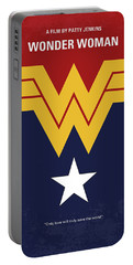 No825 My Wonder Woman Minimal Movie Poster Portable Battery Charger
