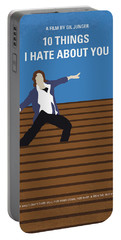 No850 My 10 Things I Hate About You Minimal Movie Poster Portable Battery Charger