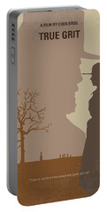 No860 My True Grit Minimal Movie Poster Portable Battery Charger
