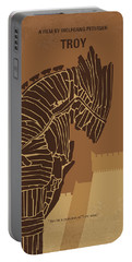 No862 My Troy Minimal Movie Poster Portable Battery Charger