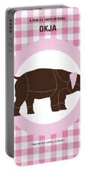 No921 My Okja Minimal Movie Poster Portable Battery Charger