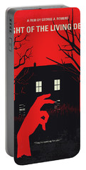 No935 My Night Of The Living Dead Minimal Movie Poster Portable Battery Charger