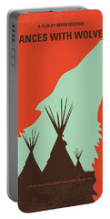 No949 My Dances With Wolves Minimal Movie Poster Portable Battery Charger