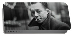 Nobel Prize Winning Writer Albert Camus Paris 1944 - 2015           Portable Battery Charger