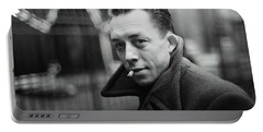 Nobel Prize Winning Writer Albert Camus  Unknown Date Or Photographer - 2015           Portable Battery Charger