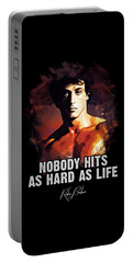 Nobody Hits As Hard As Life Portable Battery Charger