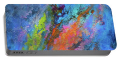 Nocturne Nebula Abstract Painting Portable Battery Charger