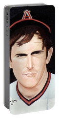 Nolan Ryan With The Angels Portable Battery Charger