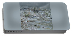 Portable Battery Charger featuring the painting Nor'easter by Judith Rhue