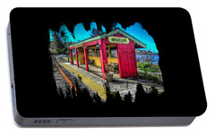 Portable Battery Charger featuring the photograph Norm Laknes Train Station by Thom Zehrfeld