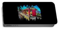 Norm Laknes Train Station Portable Battery Charger by Thom Zehrfeld