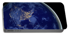 North America From Space Portable Battery Charger by Delphimages Photo Creations