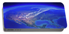 North America Seen From Space Portable Battery Charger