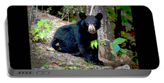 North American Black Bear Portable Battery Charger by Charles Shoup