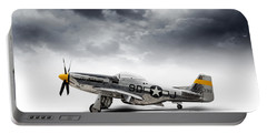 Portable Battery Charger featuring the digital art North American P-51 Mustang by Douglas Pittman