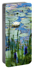 North American White Water Lily Portable Battery Charger