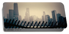 North Avenue Beach Chicago Skyline Portable Battery Charger