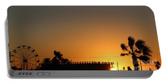 North Beach Sunset Portable Battery Charger by Thomas OGrady