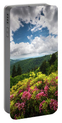 North Carolina Appalachian Mountains Spring Flowers Scenic Landscape Portable Battery Charger