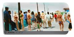 North Carolina Atlantic Beach Boardwalk Digital Art Portable Battery Charger