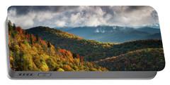 North Carolina Mountains Asheville Nc Autumn Sunrise Portable Battery Charger