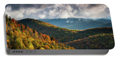 North Carolina Mountains Asheville Nc Autumn Sunrise Portable Battery Charger