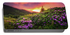 North Carolina Mountains Outdoors Landscape Appalachian Trail Spring Flowers Sunset Portable Battery Charger