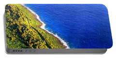 North Coast Of Tinian At Sunrise Portable Battery Charger