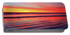 Portable Battery Charger featuring the photograph North County Sand Ripples by John F Tsumas