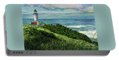 North Head Lighthouse And Beyond Portable Battery Charger